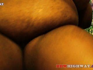 बड़े स्तन के साथ वसा आबनूस BBW बेकार बड़ा काला मुर्गा