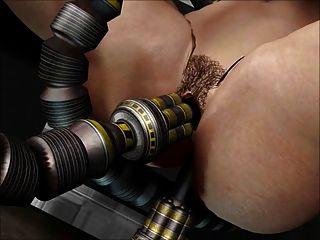 3 डी एनीमेशन: सेक्स रोबोट
