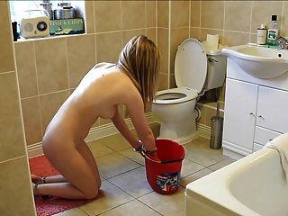 सफाई बाथरूम