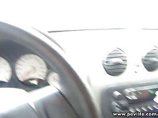povlife संचिका लैटिन बदमाश कार में उँगलियों बेब