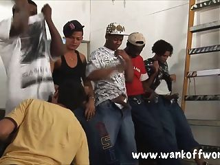 5 काले दोस्तों के एक स्थानीय बालक गैंगबैंग
