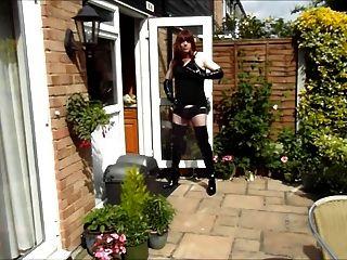 एलिसन बगीचे में wanking thighbootboy