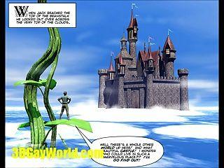 जैक और 3dgay कार्टून हास्य समलैंगिक प्रसिद्ध परी कथा Beanstalk