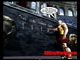 समलैंगिक ओलिंपिक खेलों अजीब 3D समलैंगिक कार्टून मोबाइल फोनों के लिए 3 डी कॉमिक्स मजाक