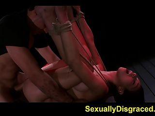 मिया हर्ले जबकि बाध्य और असहाय के लिए किसी न किसी सेक्स