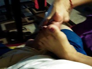 एशियाई Footjob