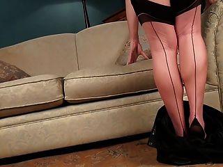 अबी toyne काले मोज़ा seamed