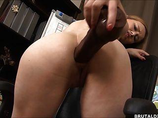 बड़ी गुदा dildos खींच