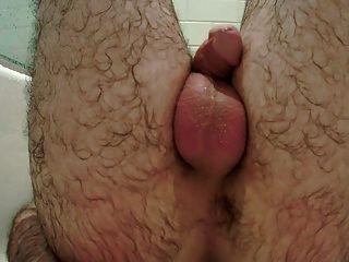 सह शॉट के साथ मैं हाथों से मुक्त गुदा संभोग