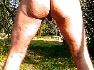गुदा कमला dildo के जंगल में नग्न
