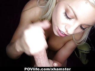 povlife - गोरा ब्रिटनी एम्बर बकवास करने के लिए पसंद करती है