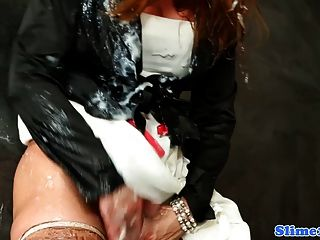 glamcore यूरो Bukkake साथ squirted