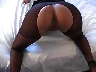 रियो crotchless pantyhose में गड़बड़