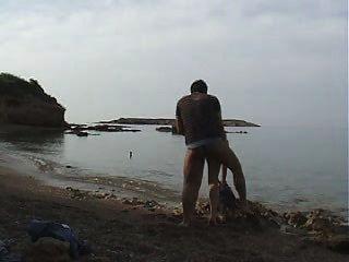 मेरी पूर्व और मैं सार्वजनिक समुद्र तट बकवास