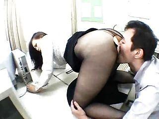 एशियाई Pantyhose पूजा सेक्स