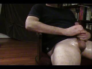 हस्तमैथुन और बड़े spurting सह शॉट (स्खलन)