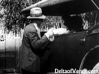 दुर्लभ प्राचीन अश्लील, 1900 के प्रारंभ - एक मुफ्त की सवारी