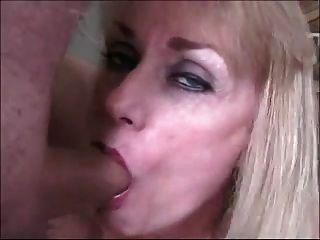 परिपक्व पत्नी के चेहरे