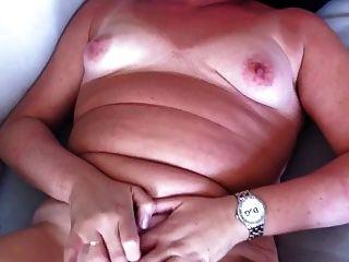 पत्नी wanks और पति के लिए cums