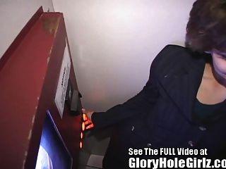 कार्यालय प्रबंधक थका हुआ ताम्पा gloryhole में अजनबियों से दूर बेकार