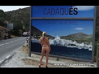स्पेन में पागल दिन!चमकती और हस्तमैथुन