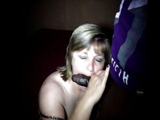 शरारती पत्नी सारा चूसना और बड़े काले लंड बकवास प्यार करता है !!!