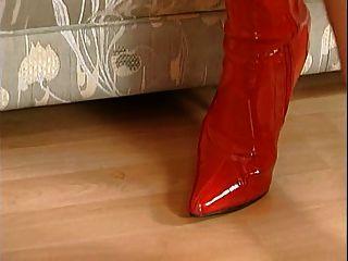 Nicoletta नीले रंग लाल जूते