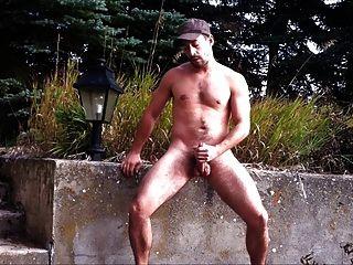 पार्क में एक wank