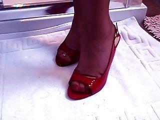 भयानक पैर के साथ परिपक्व पैर बुत मॉडल