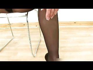 pantyhose पैर, गधा, और पैर पूजा