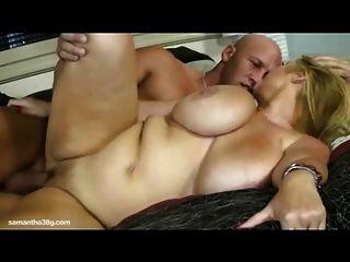 सेक्सी बीबीडब्ल्यू एमआईएलए सामन्था 38g विशाल शरीर सौष्ठव संवर्धन fucks