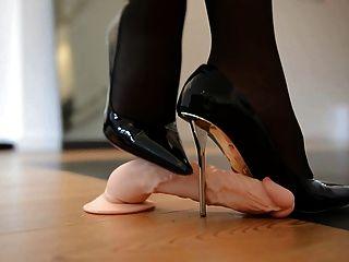 डिजाइनर उच्च ऊँची एड़ी के जूते में कुचलना shoejob और 55 सेमी कोर्सेट