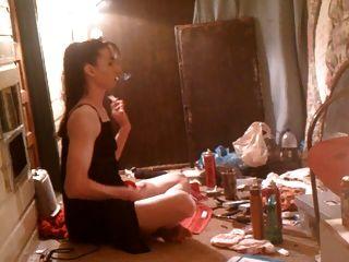 परिपक्व महिला धूम्रपान ... और ...