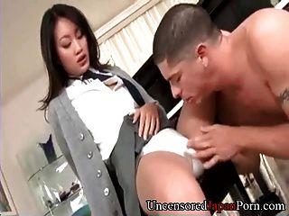 मुंडा जापानी छात्रा - बिना सेंसर