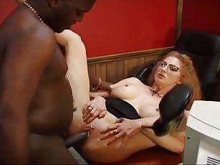 परिपक्व कार्यालय वेश्या बीबीसी के लिए उसे गधा देता है