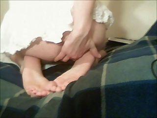 मेरे पैर की उंगलियों कर्लिंग, मेरे तलवे scrunching, गधे के साथ खेल