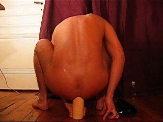 गधे में विशाल dildo