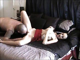 पुरुष अपनी पत्नी को तो creampies उसे साफ licks