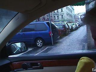Aneta blowjob और कार में कमबख्त से पता चलता है