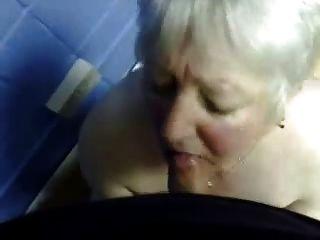 बुरा नानी के मुंह में कमिंग।एमेच्योर पुराने