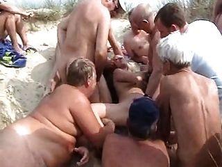समुद्र तट Bukkake