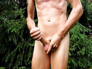 सह शॉट और मेरे नग्न शरीर और मुंडा लिंग