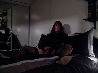 बिस्तर पर पहली vid