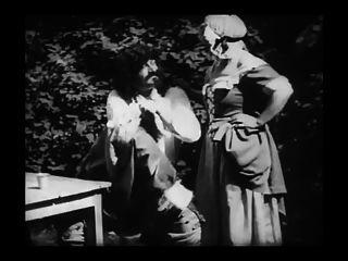 विंटेज कामुक फिल्म 8 - mousquetaire Au रेस्तरां 1910