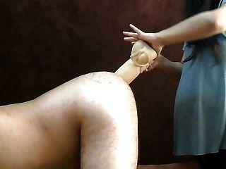 एक पेंच की तरह पत्नी बड़ा dildo स्ट्रैपआन