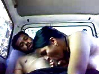 कार में भारतीय जोड़ी (शौकिया)