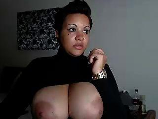 वेब कैमरा विशाल स्तन आबनूस