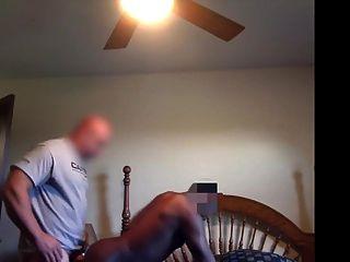 skinhead व्हाइट ठग नंगे पौंड काली कुतिया