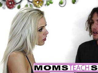 stepmom और युवा छात्रा के लिए गर्म त्रिगुट