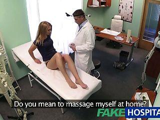 FakeHospital निर्दोष गोरा डॉक्टरों मालिश हो जाता है